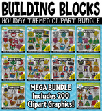 Holiday Building Blocks Clipart Mega Bundle {Zip-A-Dee-Doo-Dah Designs}