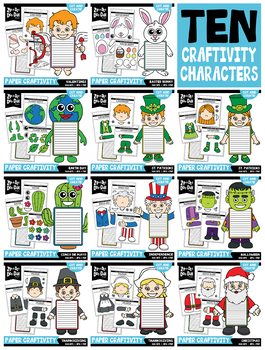 {FLASH DEAL} Holiday Cut & Create Characters Craftivity Bundle