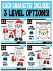 Holiday Cut & Create Characters Craftivity Bundle — Color & B/W Sheets!