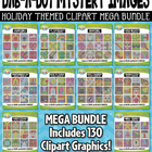 {FLASH DEAL} Holiday Dab-A-Dot Mystery Images Clipart Mega Bundle — 250 Graphics