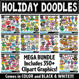 {FLASH DEAL} Holiday Doodle Clipart Bundle {Zip-A-Dee-Doo-Dah Designs}