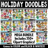 Holiday Doodle Clipart Bundle {Zip-A-Dee-Doo-Dah Designs}