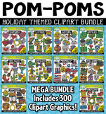Holiday Fuzzy Pom-Poms Clipart Mega Bundle {Zip-A-Dee-Doo-Dah Designs}