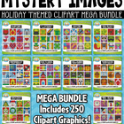 {FLASH DEAL} Holiday Mystery Images Clipart Mega Bundle — Includes 250 Graphics!