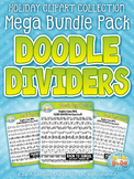 Holiday Page Doodle Dividers Clipart Mega Bundle {Zip-A-Dee-Doo-Dah Designs}