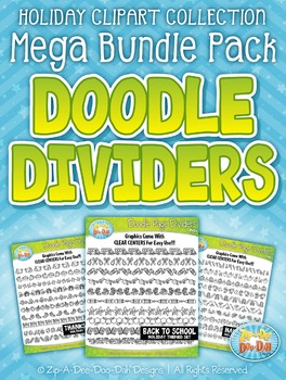 Holiday Page Dividers Clipart Mega Bundle — Includes 100 G