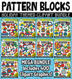 {FLASH DEAL} Holiday Puzzle Pattern Blocks Clipart Mega Bundle ($25.00 Value)