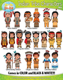 Native American Tribe Characters Clipart Bundle {Zip-A-Dee-Doo-Dah Designs}