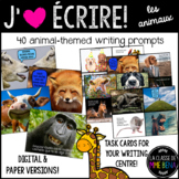 {J'aime Écrire: les animaux!} French writing prompts [Dist