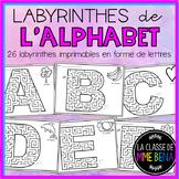 {Labyrinthes de l'alphabet!} 26 printable French letter mazes