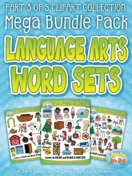 Language Arts Words Clipart Part 3 Mega Bundle {Zip-A-Dee-Doo-Dah Designs}
