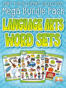Language Arts Words Part 4 Clipart Mega Bundle — Over 150