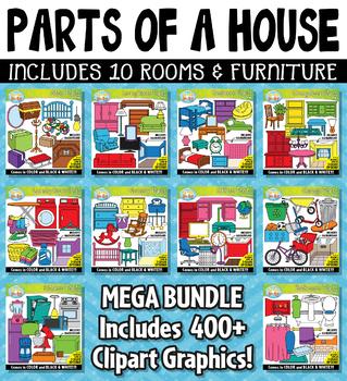 {FLASH DEAL} Parts of a House Clipart Mega Bundle