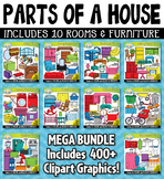 Parts of a House Clipart Mega Bundle