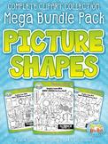 Picture Shapes Clipart Mega Bundle {Zip-A-Dee-Doo-Dah Designs}