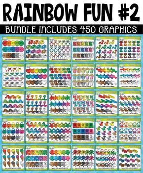 {FLASH DEAL} Rainbow Fun Collection Clipart Bundle #2 (OCT-DEC)
