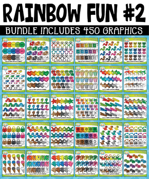 Rainbow Fun Collection Clipart Bundle #2 (OCT-DEC)