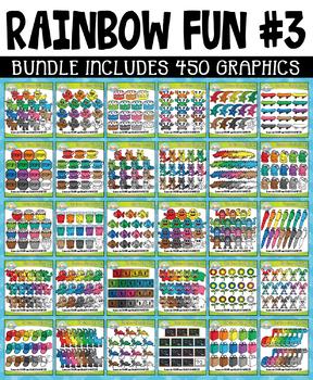{FLASH DEAL} Rainbow Fun Collection Clipart Bundle #3 (JAN-MAR)