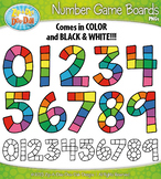 Number Game Boards Clipart {Zip-A-Dee-Doo-Dah Designs}