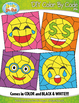 SMILEY FACES Color By Code Clipart {Zip-A-Dee-Doo-Dah Designs}