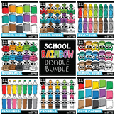 School Rainbow Doodle Clipart Bundle {Zip-A-Dee-Doo-Dah Designs}
