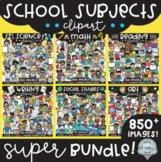 {FLASH DEAL!} School Subjects Clipart GROWING Bundle!