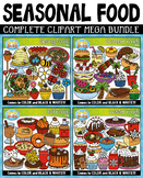 {FLASH DEAL} Seasonal Food Clipart Mega Bundle ($20 VALUE)