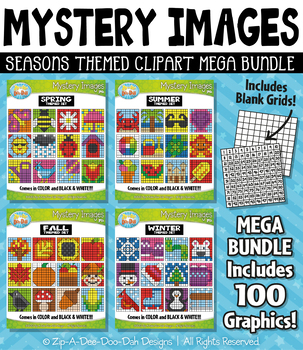 Seasons Mystery Images Clipart Mega Bundle {Zip-A-Dee-Doo-Dah Designs}