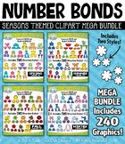Seasons Number Bonds Clipart Mega Bundle — Includes 240 Graphics