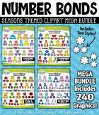 Seasons Number Bonds Clipart Mega Bundle — Includes 240 Graphics