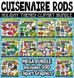 Holiday Wooden Block Rods Clipart Mega Bundle {Zip-A-Dee-Doo-Dah Designs}