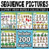 Sequence Action Pictures Clipart Mega Bundle Part 1 {Zip-A