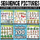 Sequence Action Pictures Clipart Mega Bundle Part 1 — 200
