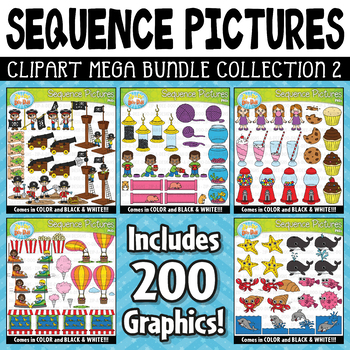 Sequence Action Pictures Clipart Mega Bundle Part 2 ($20.00 Value)