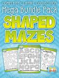 Shaped Mazes Clipart Mega Bundle {Zip-A-Dee-Doo-Dah Designs}