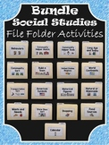 Social Studies File Folder Activities ~ BUNDLE