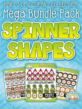 {FLASH DEAL} Spinner Shapes Clipart Mega Bundle Part 2 — Over 300 Graphics!