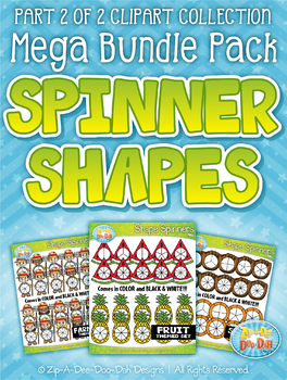 Spinner Shapes Clipart Mega Bundle Part 2 — Over 300 Graphics!