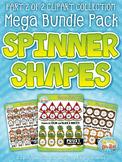 Spinner Shapes Clipart Mega Bundle Part 2 — Over 300 Graphics!