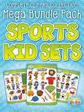 Sports Kid Characters Clipart Mega Bundle {Zip-A-Dee-Doo-Dah Designs}