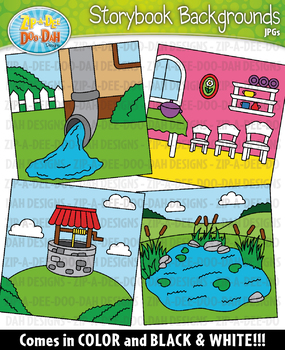 Storybook Background Scenes Clipart {Zip-A-Dee-Doo-Dah Designs}