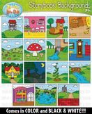 Storybook Background Scenes Clipart {Zip-A-Dee-Doo-Dah Designs}