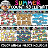 Summer Counting Clipart Bundle {Summer Clipart}