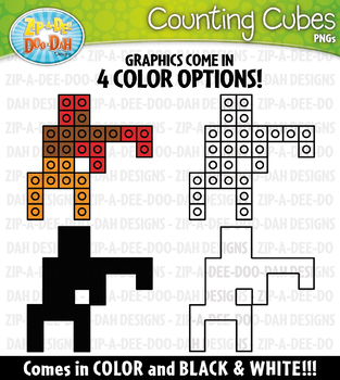 Summer Games Counting Cubes Clipart {Zip-A-Dee-Doo-Dah Designs}
