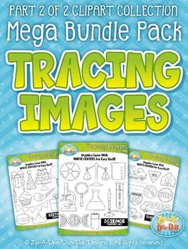 Tracing Images Clipart Mega Bundle Part 2 — Includes 200+