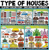 Types of Houses Clipart Mega Bundle {Zip-A-Dee-Doo-Dah Designs}