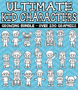 {FLASH DEAL} Ultimate Kid Characters Clipart Growing Bundle — Over 200 Graphics!