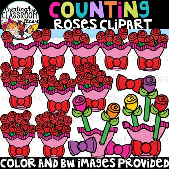 Valentines Counting Clipart Bundle {Valentines Day Clipart}