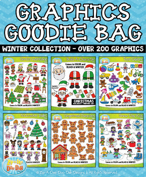 Winter Graphics Goodie Bag Mega Bundle — Over 200 Graphics!
