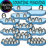 Counting Penguins: Winter Clipart {Creative Clips Clipart}